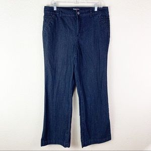 Style and co tummy control wide leg jeans